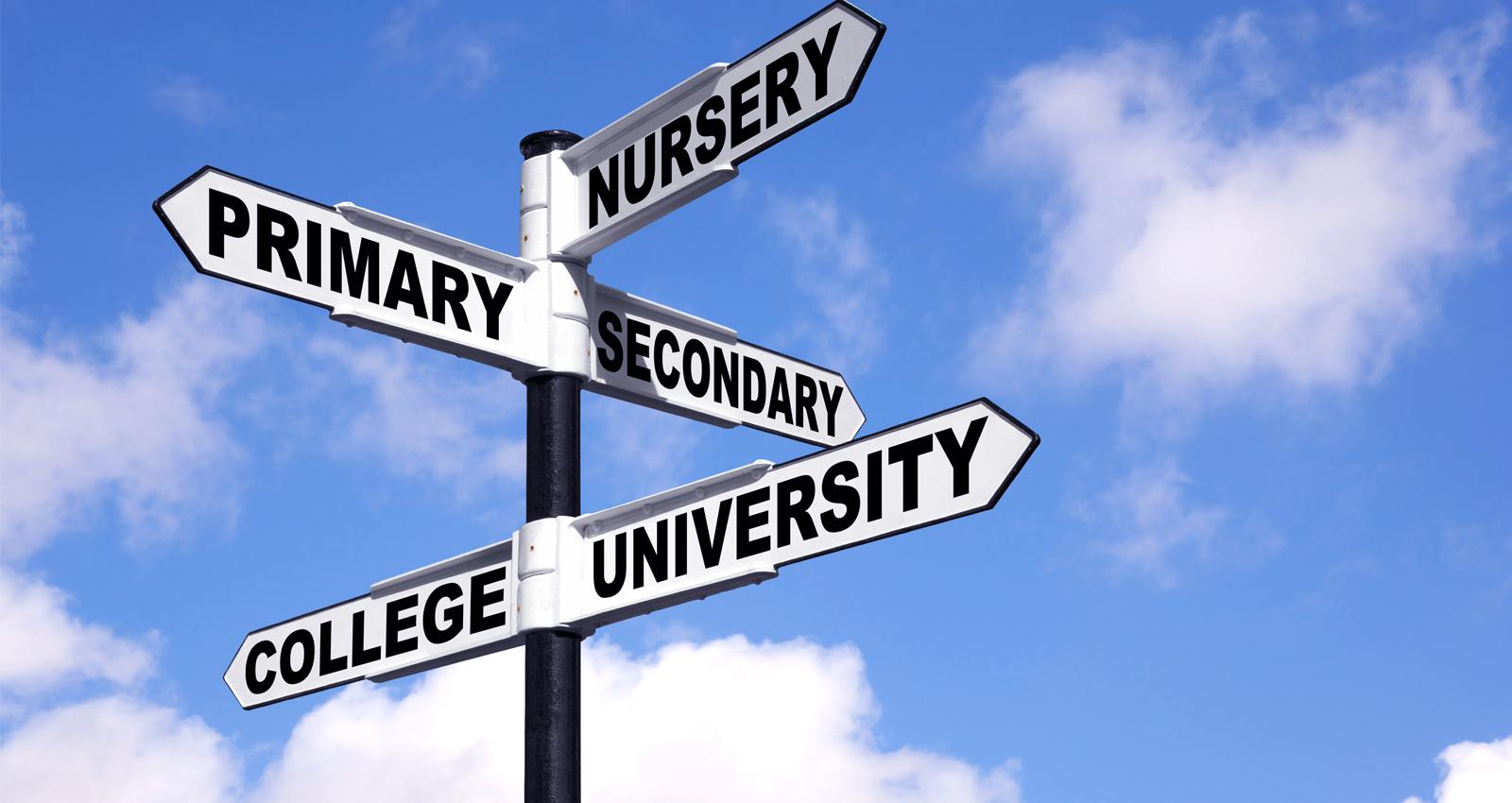 Panneau de signalisation avec les noms des classes